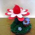 Tojás-gyertya-virág