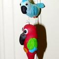 Szélharang papagájokkal
