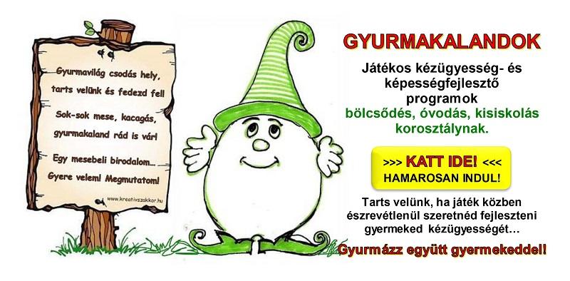GYURMAKALANDOK - Online kézügyesség fejlesztő program
