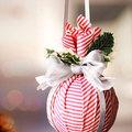 Karácsonyfadísz - gömb és tészta