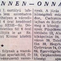 666. Rövidhírek 1959 nyaráról
