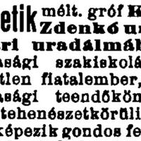 800. Uradalmi álláshirdetés 1912-ből