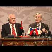 Vaclav Klaus cseh elnök tollat lop