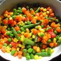 Zöldségek sülve, főve