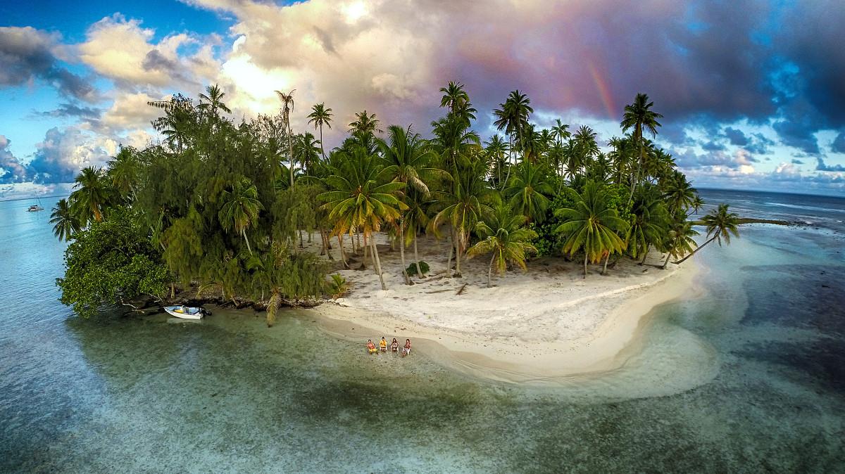 """A """"Természet"""" kategória harmadik helyezettje Marama Photo Video Elveszett szigete, Tahaa, Francia Polinézia."""