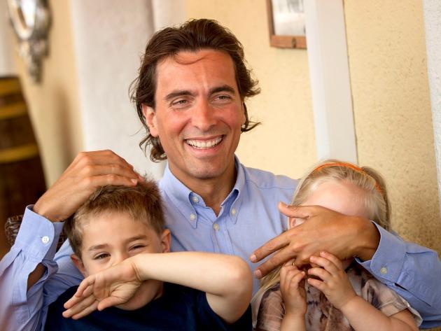 Carlo Ponti gyerekeivel (MTI Fotó: Szigetváry Zsolt)
