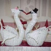 papírfonás- esküvői hattyúk