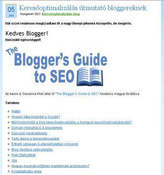seo bloggereknek