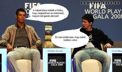 Messi oltja Ronaldot - Lájk