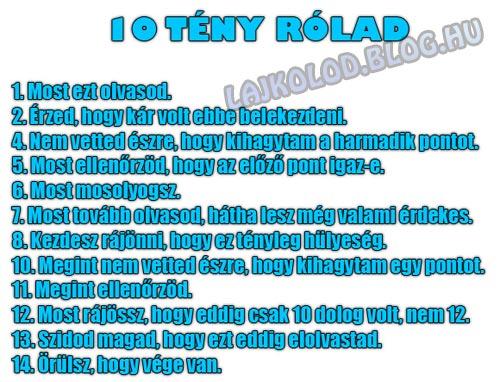 10 tény rólad - Lájk