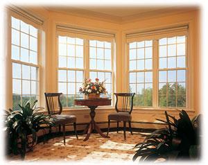 Ablakok egy nappaliban