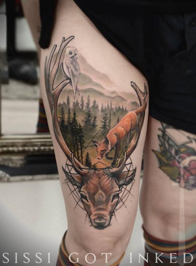 Konstanze bécsi tetoválóművész elképesztő alkotásai