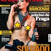 Meztelen GI Jane az Interviú magazin címlapján