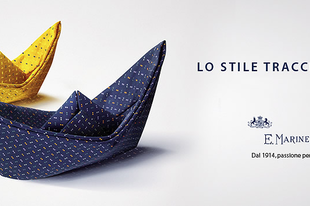 Az E.Marinella igazán kreatív nyakkendő hirdetései