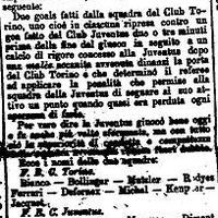 Vissza a kályhához: a legelső Torino-Juventus (1907)