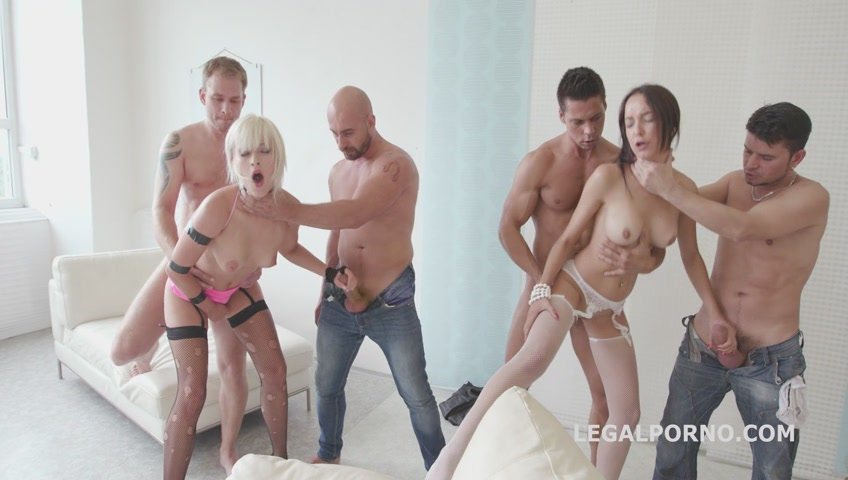 image Ria sunn and francys belle orgía in an orgy with double anal penetrations