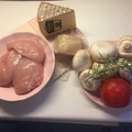 Gomba, sajt és csirke találkozása a sütőben