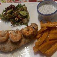 Éttermi feeling otthon: marlin édesburgonyával