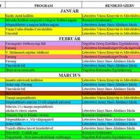 2018. évi városi programok tervezete - Létavértes