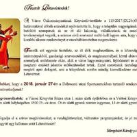 ÚJRA LESZ VÁROSBÁL  - JANUÁR 27 -ÉN
