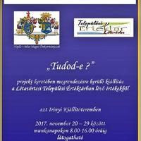 ÉRTÉKTÁR KIÁLLÍTÁS LÉTAVÉRTESEN november 20-29