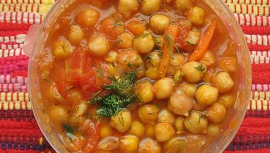 Marokkói csicseriborsó leves