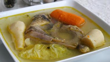 Gyöngytyúk leves, Guinea fowl soup