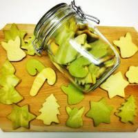 Karácsonyi keksz zöldteával
