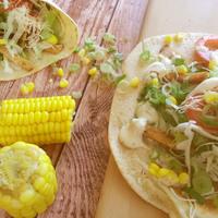 Villámgyors sült húsos wrap, kukoricával és fokhagymás majonézzel