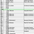2012 nyári turné eddigi ismert állomásai