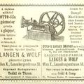 Pótolja a gőzgépet - hirdetés 1885 - a zajtalan működő OTTO-féle gázmotor