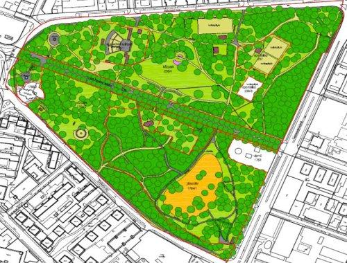 Az újszegedi Liget fáinak térképe az előterjesztésben