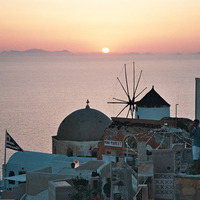 Malév charter kontra fapados - Santorini főszezonban