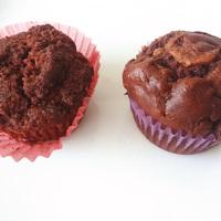 Gluténmentes vs. fehér lisztes csokis muffin