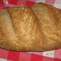 Szezámmagos kenyér - pizza