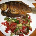 Sült apróhalak paprikás lisztben