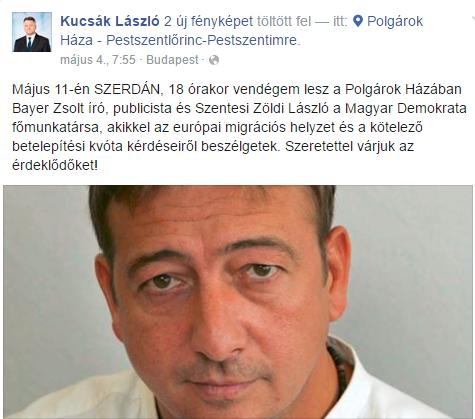 Nyílt levél Kucsák Lászlónak Bayer Zsolt meghívása kapcsán.