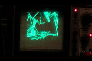 Így néz ki a Quake egy oszcilloszkópon