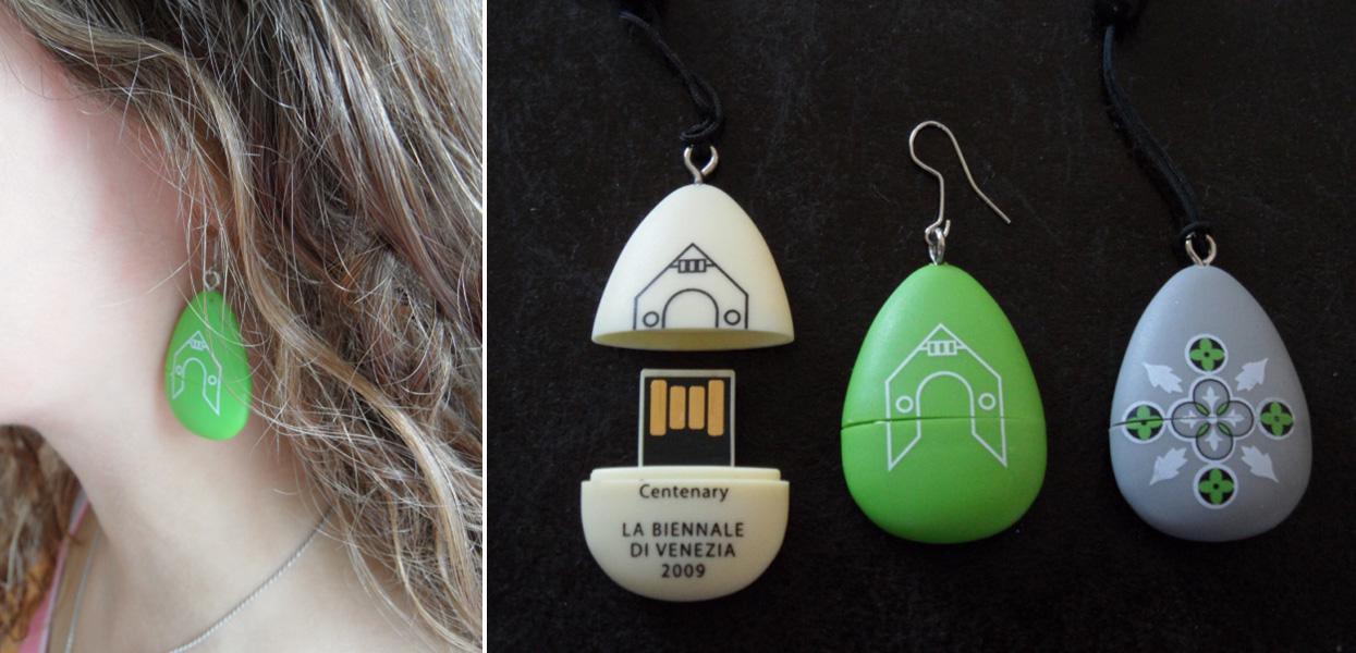 Ajándék pendrive a magyar pavilon 100. születésnapja alkalmából (design: KIBU)