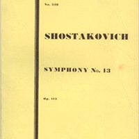 ";VERIFIED; Symphony No. 13, Op. 113 (Babi Yar) For Bass Solo, Bass Chorus, And Orchestra [Study Score, 7"" X 10.5""] (Kalmus Miniature Orchestra Scores, 528). purpose victims motivo without Critical"