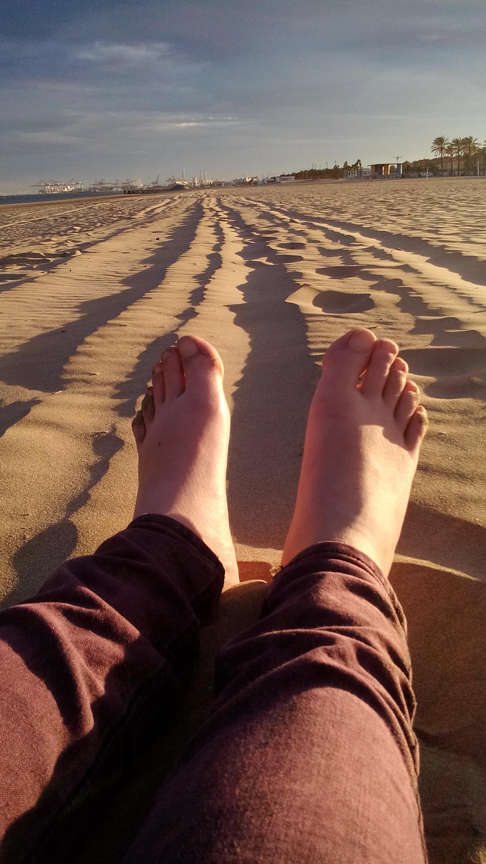 hát... a homokos tengerparton mezitláb sétálni nem egy rossz dolog.