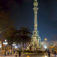 Barcelona éjszakai fényárban