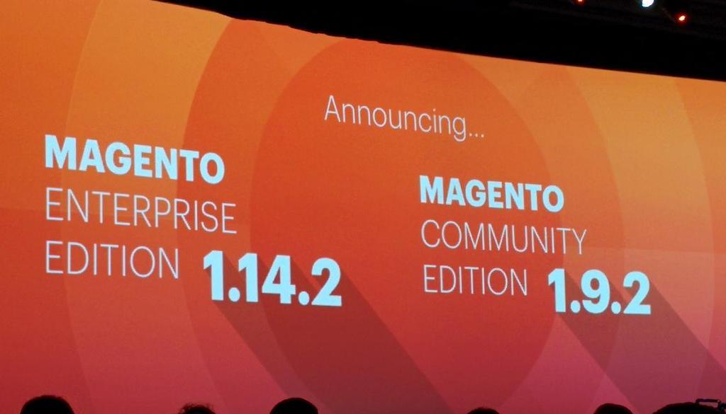 Magento Imagine 2015 - Magento CE 1.9.2 Magento EE 1.14.2