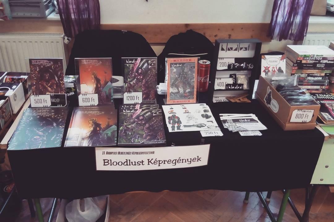 Bloodlust stand a múltkori képregénybörzén