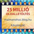 Átléptük a 25.000.000. oldalletöltést - Köszönjük, hogy ilyen sokan olvastok minket!