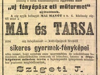 A Nagymező utca 20. szám alatti műterem és fényképészeinek története(i) a korabeli sajtó tükrében (1894–1931)
