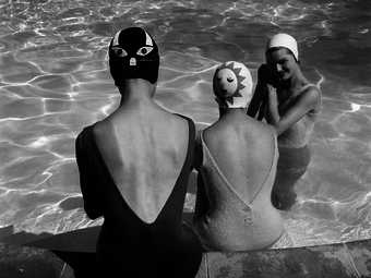 Ralph Crane: Swimming caps with faces (1950's)