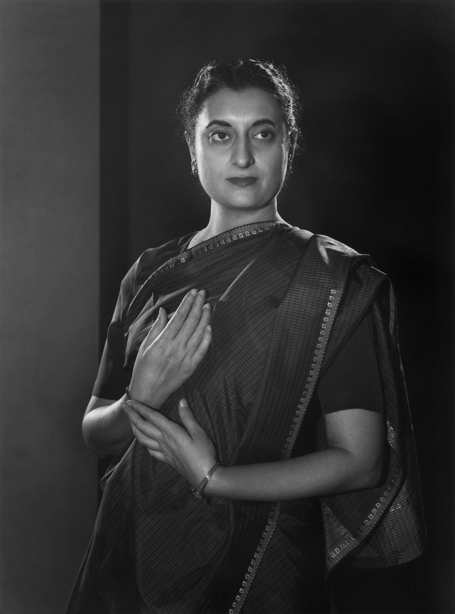Fotó: Yousuf Karsh: Indira Gandhi, 1956 © Yousuf Karsh