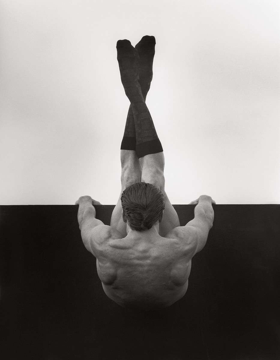 Fotó: Herb Ritts: Male Nude with Socks, Los Angeles 1990 © Herb Ritts Foundation Photograph