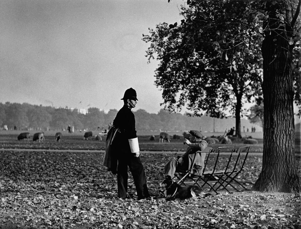 Fotó:Wolfgang Suschitzky: Hyde Park, London, dátum nélkül © Wolfgang Suschitzky